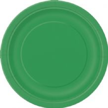 "Small Emerald Green Plates - 7"" Paper Plates (20pcs)"